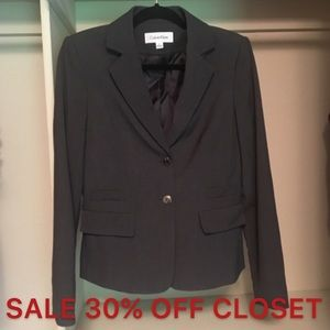 Calvin Klein | Like New Gray Blazer Size 6